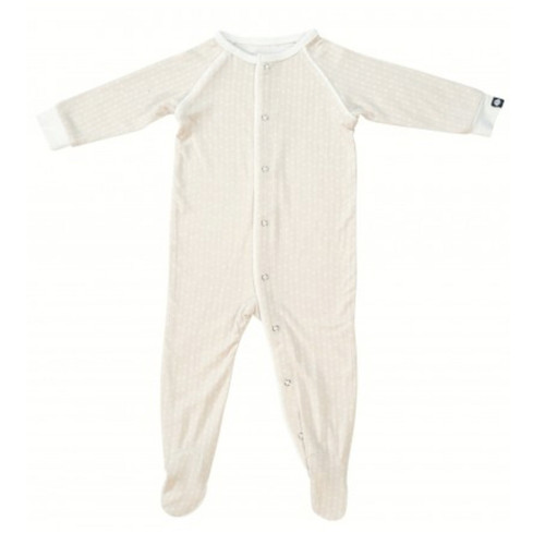 Bamboo Footed Romper, Cream Stars