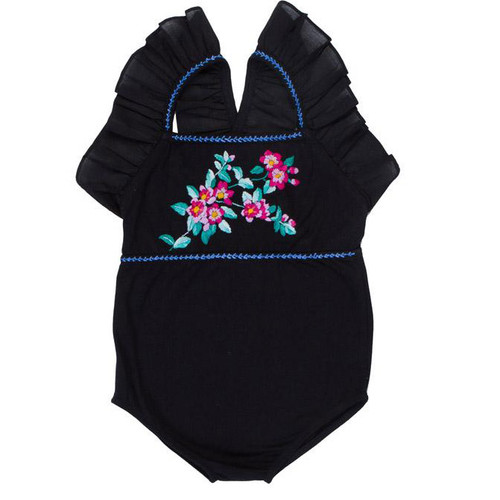 Fawn Leotard, Black Hand Stitch