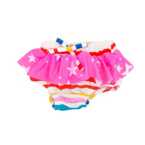 Ruffle Bloomer, Multi Stripe