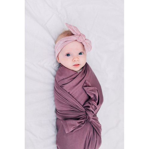 Jersey Stretch Swaddle, Plum