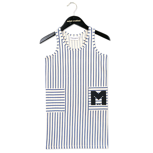 Mini Rodini Tank Dress, Blue Stripe