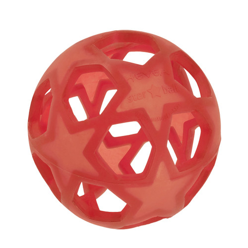 Hevea Rubber Star Ball, Red