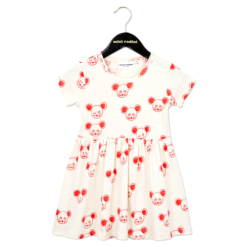 Mini Rodini Mouse Dress, Red
