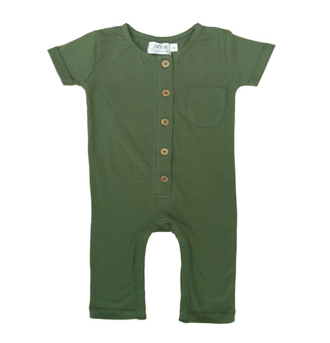 Organic Cotton Overall, Olive Green