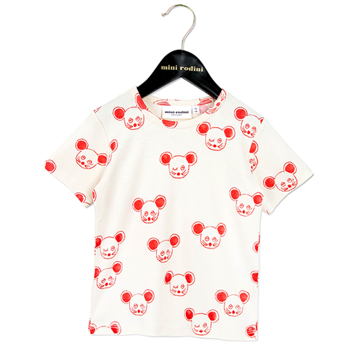 Mini Rodini Mouse Tee, Red