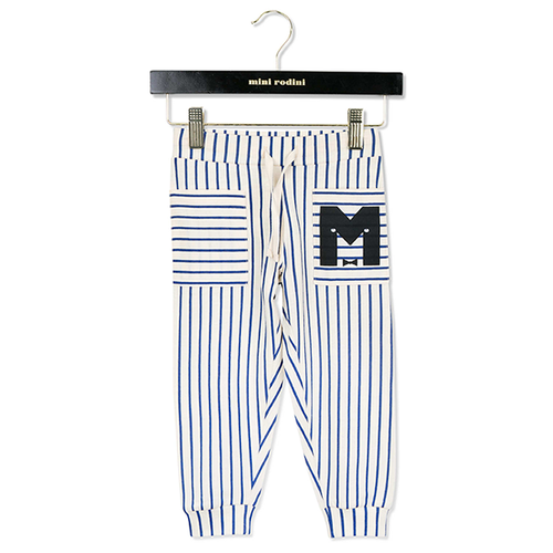 Mini Rodini Stripe Trousers, Blue