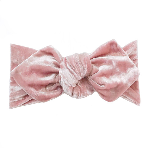 Top Knot Headband, Crushed Blush Velvet