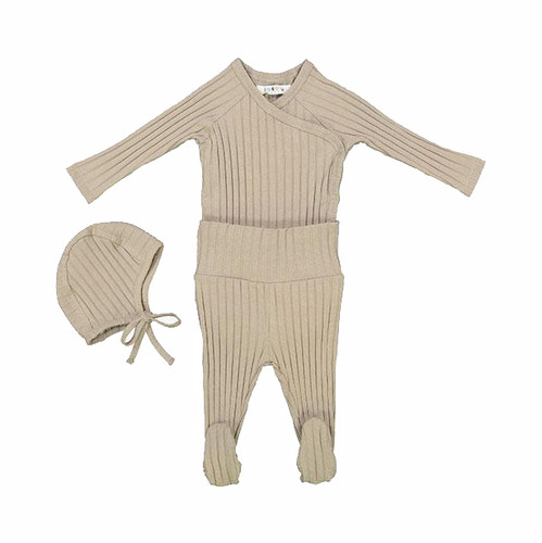 Baby Layette Set, Taupe