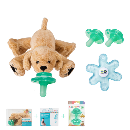 Retriever Puppy Buddies Pacifier Gift Set
