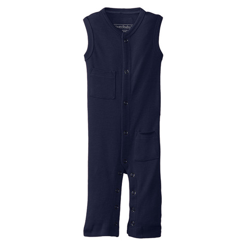 Organic Sleeveless Overall, Navy