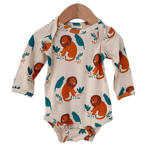 Long Sleeve Bodysuit, Lion