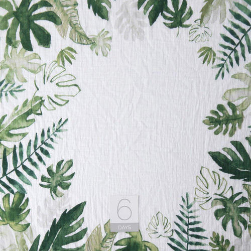 Muslin Photo Memory Blanket & Card Set, Tropical Leaf