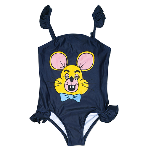 Mini Rodini Mouse Swimsuit, Blue