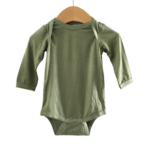 Long Sleeve Bodysuit, Sage