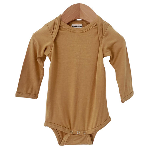 Long Sleeve Bodysuit, Mustard