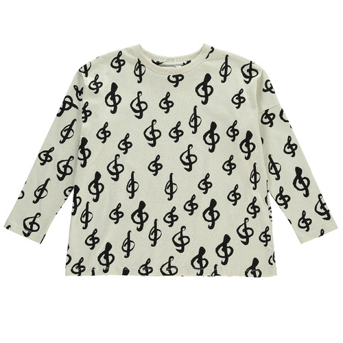 Long Sleeved Square T-shirt, Music