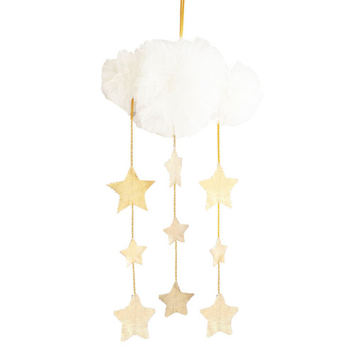 Tulle Cloud Mobile, Ivory & Gold
