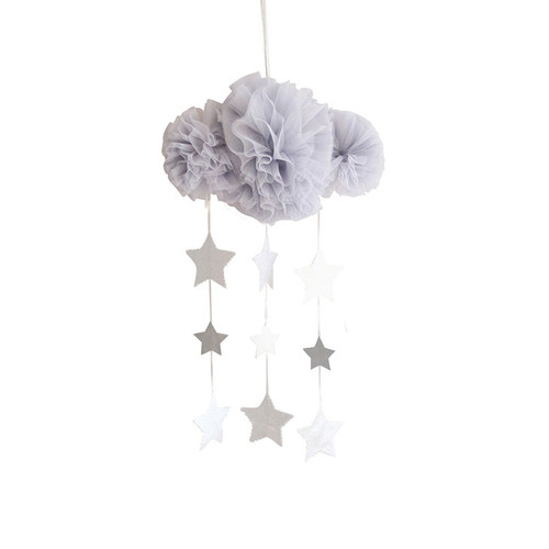 Tulle Cloud Mobile, Mist & Silver