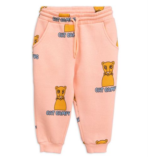 Mini Rodini Cat Campus Sweatpant, Pink