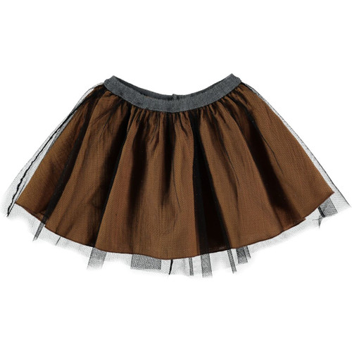 Ballet Girls Mesh Skirt, Biscuit