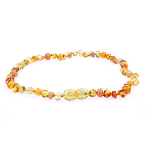 Amber Teething Necklace, Milk/Honey Baltic Amber