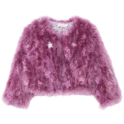 Tutu Du Monde Winter's Fire Marabou Jacket, Royal Orchid