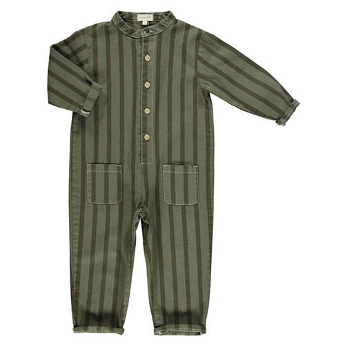 Jumpsuit, Khaki Stripes