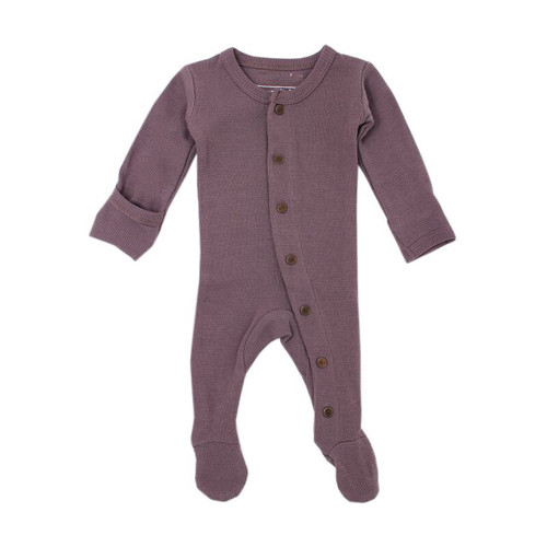 Organic Thermal Footed Overall, Amethyst