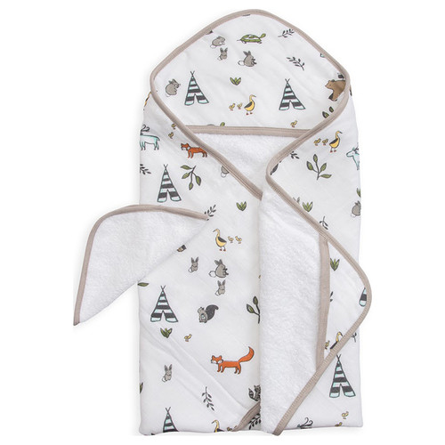 Hooded Towel Set, Forest Friends