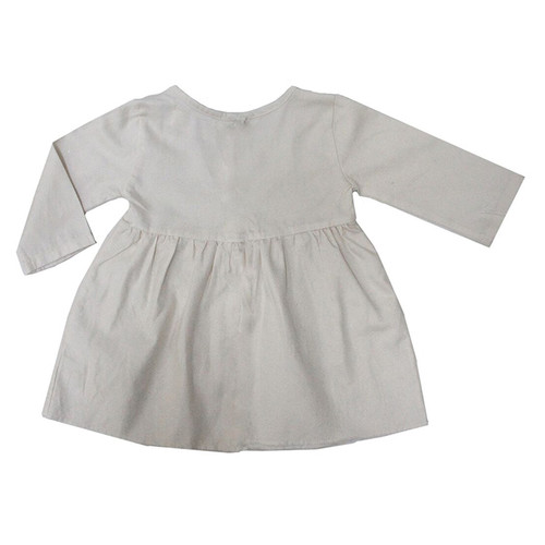 Short Prairie Dress, Natural