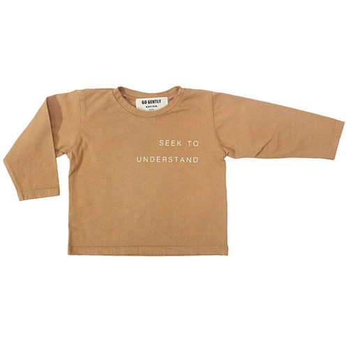 Seek to Understand Tee, Flax