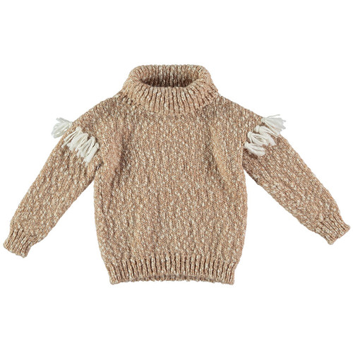 Fillipa Turtleneck Pullover, Biscuit