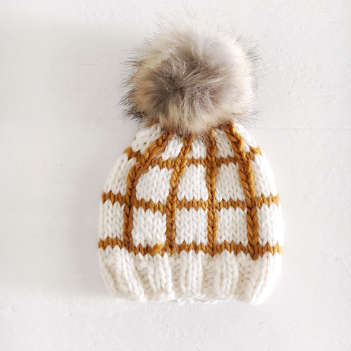 Windowpane Hat, Mustard