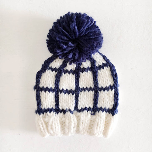 Windowpane Hat, Navy