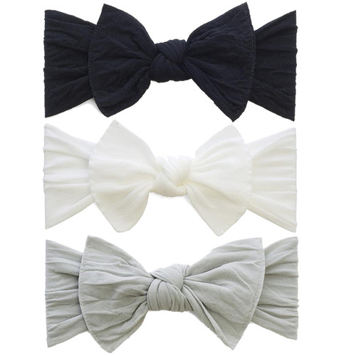 3-pack Bow Set, Black, Grey, White