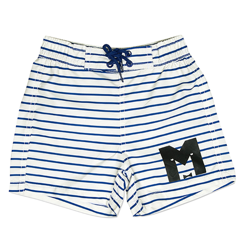 Mini Rodini Stipe Swim Shorts, Blue