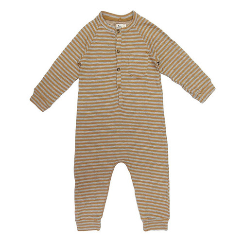 Halen Striped Romper, Mustard