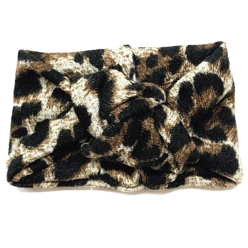 Twist Knot Headband, Leopard