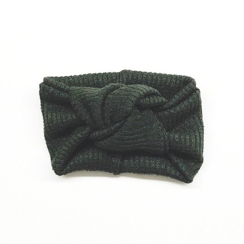 Twist Knot Headband, Olive