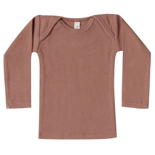 Ribbed Lap Tee, Clay