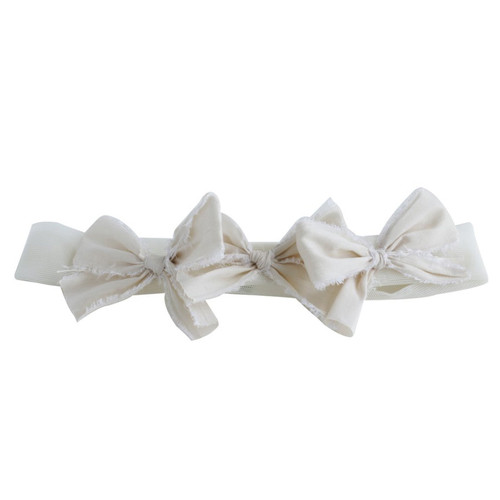 Triple Bow, Ivory/Ivory on Mesh Band