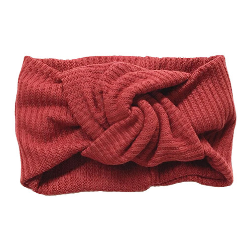 Twist Knot Headband, Sangria