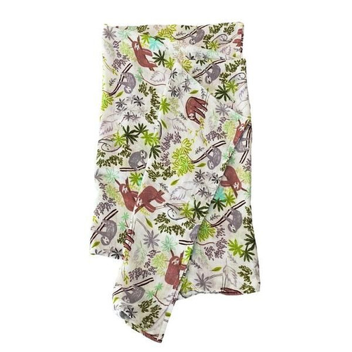 Luxe Muslin Swaddle, Sloth