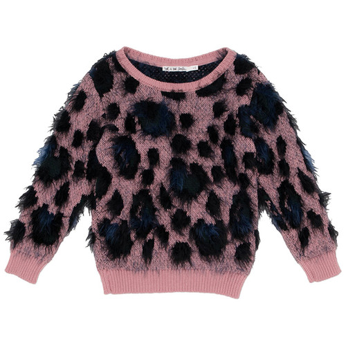Sweater, Rose Leopard
