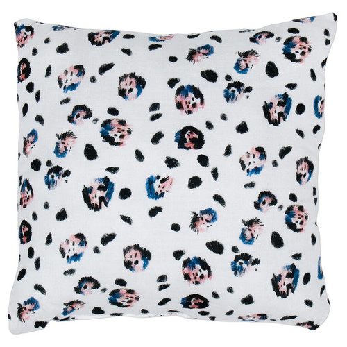 Square Pillow, Snow Leopard