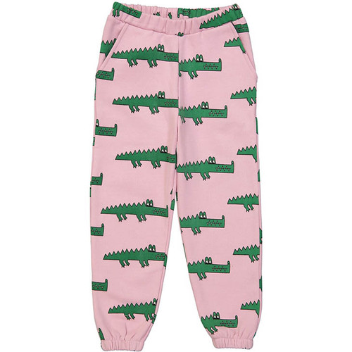 80's Sweatpants, Pink Crocodiles