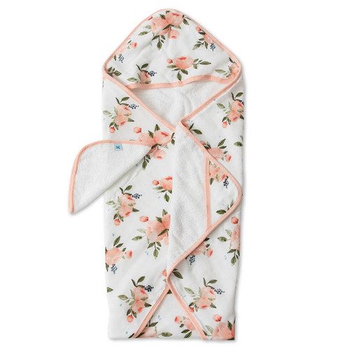 Hooded Towel Set, Peach Rose