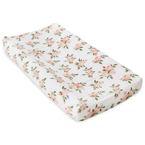 Muslin Changing Pad Cover, Peach Rose