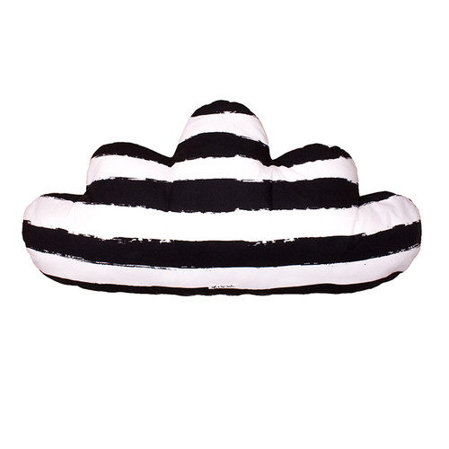 Large Cloud Pillow, XL Black Stripes