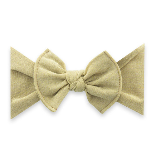 Shimmer Knot Bow, Gold